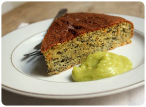 avocado poppy seed cake