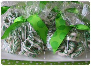 chocolate covered pretzel favors