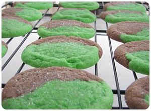 green marble cookies