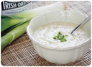 irish oatmeal leek soup