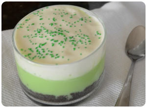 mint pudding cups