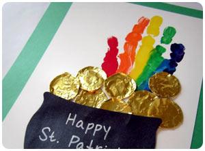 rainbow handprint craft