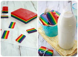 rainbow slice and bake cookies