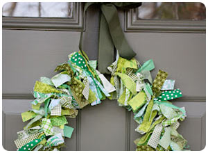 st. patty's day rag wreath