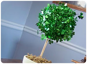 st. patty's day topiary