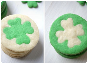 two-tone clover cookies