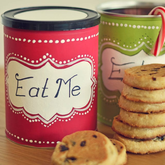 Christmas Tin Cookies.Diy Christmas Cookie Tins Miss Wish