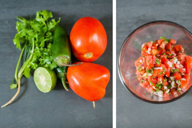 salsa before and after