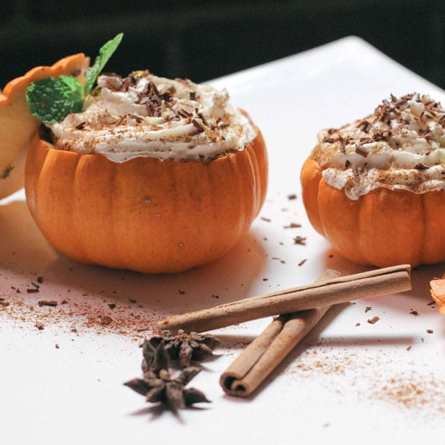 Tiramisu in Mini Pumpkins- love these!