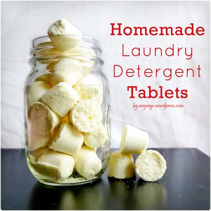 Homemade Laundry Tablets