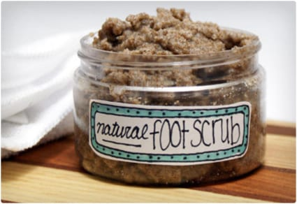Natural Homemade Foot Scrub