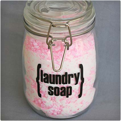 Pink Homemade Laundry Soap