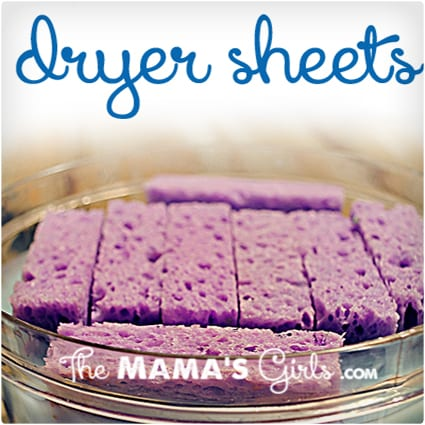 Reusable Dryer Sheets with Fabric Softener