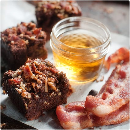 Bourbon Bacon Pecan Brownies