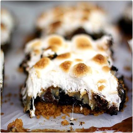 Dulce de Leche Swirl S'mores Brownie