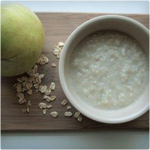 Creamy Oatmeal With Pears