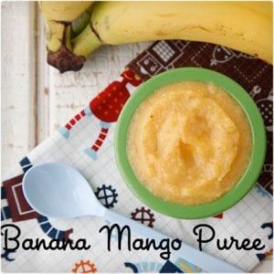 Mango and Banana Puree