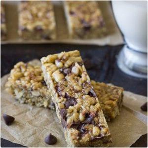 5 Ingredient No Bake Chocolate Peanut Butter Protein Bars