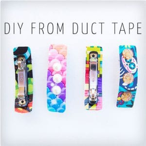 5 Minute Duct Tape Hair Clips