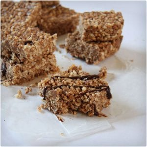 Almond Mocha Protein Rice Bars