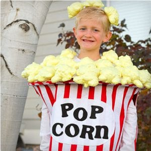 Bucket of Popcorn Costume