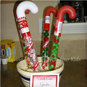 Candy Cane Garden Elf