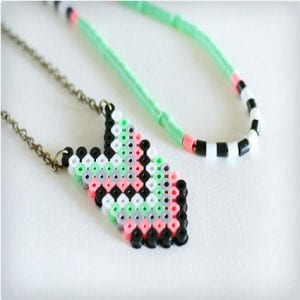 Chevron Perler Bead Necklaces