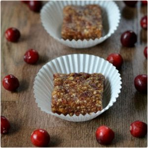 Cranberry Apple Energy Bars