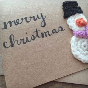 Crochet Snowman Card