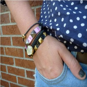 DIY Duct Tape Studded Bracelets