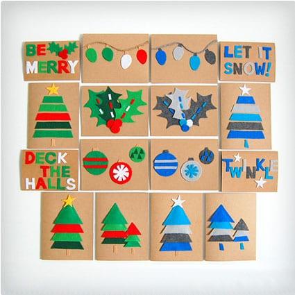 diy felt christmas cards