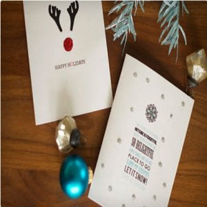 DIY Glittery Holiday Cards