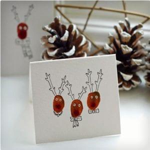 DIY Reindeer Christmas Cards