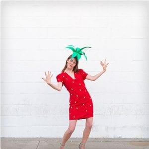 DIY Strawberry Costume