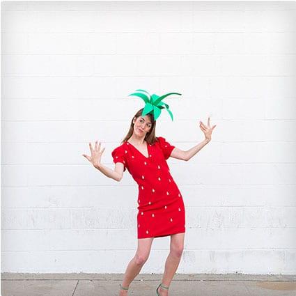 DIY Strawberry Costume  sc 1 st  Miss Wish & 38 Genius DIY Halloween Costumes | Miss Wish