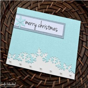 Die Cut Handmade Christmas Cards