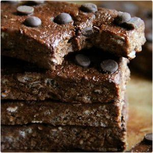 Double Chocolate Fudge Protein Bars