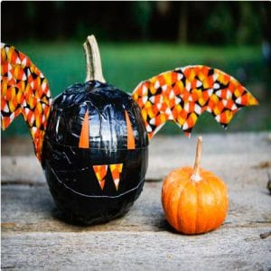 Duct Tape Bat Pumpkins