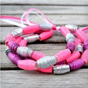 Duct Tape Bead Bracelets