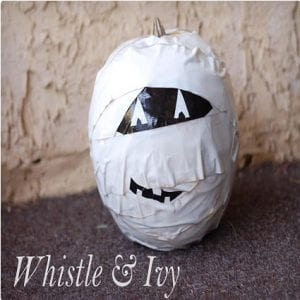Duct Tape Mummy Jack O Lantern