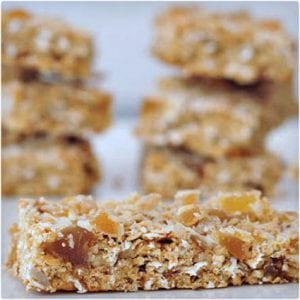 Ginger Vanilla Protein Crunch Bars