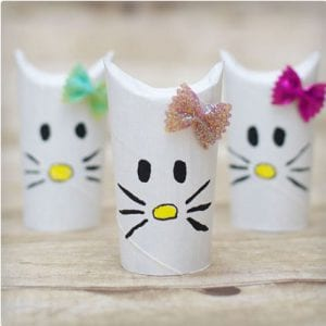 Hello Kitty Toilet Paper Roll Craft