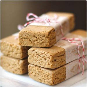 No Bake Peanut Butter Fudge Protein Bars
