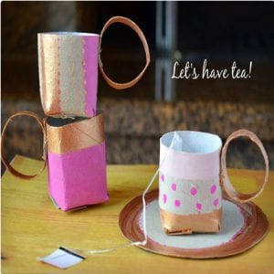 Paper Roll Tea Cups