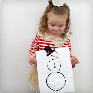 Puffy Paint Snowman