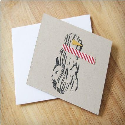 30 beautiful homemade christmas cards miss wish simple snowman christmas card solutioingenieria Choice Image