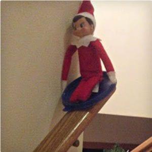 Stair Sledding Elf