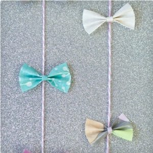 Tiny Duct Tape Bow Gift Garland