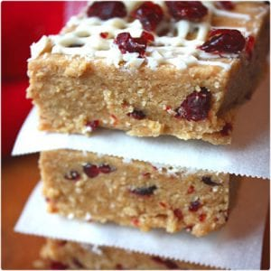White Chocolate Cranberry Protein Bars