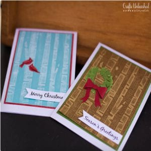 Woodland Themed DIY Holiday Cards